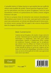 L'islam de France (et d'Europe) ; un message de paix . réflexions et questionnements d'un homme de la rue - 4ème de couverture - Format classique