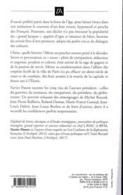 Chirac, quelle histoire ! - 4ème de couverture - Format classique