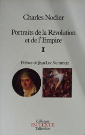 Portraits De La Revolution Et De L Empire I - Couverture - Format classique