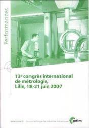 13 congres international de metrologie lille 1821 juin 2007 performances 9q86 - Couverture - Format classique