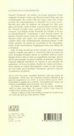 Charaf ou l'honneur - 4ème de couverture - Format classique