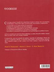 Psychobiologie - 4ème de couverture - Format classique