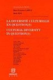 La diversite culturelle en question - Couverture - Format classique