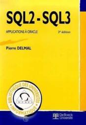 Sql2 - Sql3 - Couverture - Format classique