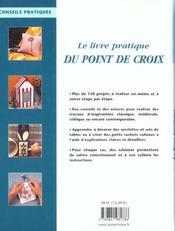 Le Livre Pratique Du Point De Croix - 4ème de couverture - Format classique