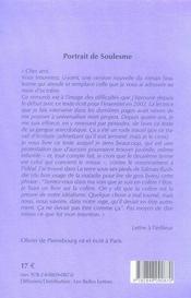 Portrait de Soulesme - 4ème de couverture - Format classique