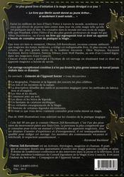 Grimoire de l'apprenti sorcier - 4ème de couverture - Format classique