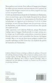 Thomas d'Aquin et la quête eucharistique - 4ème de couverture - Format classique