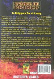 La belgique à feu et à sang - 4ème de couverture - Format classique