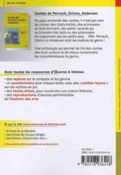 Contes de Perrault, Grimm, Andersen - 4ème de couverture - Format classique