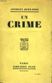Un Crime - Couverture - Format classique