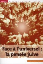PARDES ; face à l'universel : la pensée juive - Couverture - Format classique