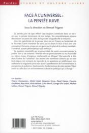 PARDES ; face à l'universel : la pensée juive - 4ème de couverture - Format classique