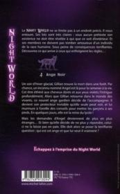 Night world t.4 ; ange noir - 4ème de couverture - Format classique
