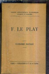 F.Le Play - Economie Sociale. - Couverture - Format classique