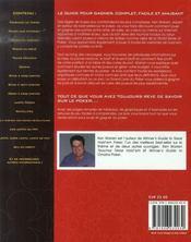 Le grand livre du poker - 4ème de couverture - Format classique