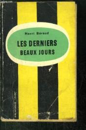 Les Derniers Beaux Jours - Couverture - Format classique