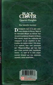 Black Clover - quartet knights T.4 - 4ème de couverture - Format classique