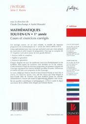 TOUT-EN-UN ; PREMIERE ANNEE ; COURS ET EXERCICES CORRIGES ; mpsi, pcsi (2e édition) - 4ème de couverture - Format classique