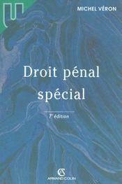 Droit Penal Special - Intérieur - Format classique