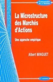 La Microstructure Des Marches D'Actions ; Une Approche Empirique - Intérieur - Format classique