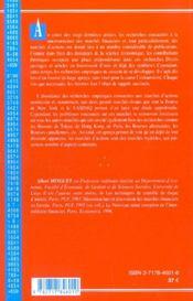 La Microstructure Des Marches D'Actions ; Une Approche Empirique - 4ème de couverture - Format classique