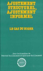 Ajustement structurel, ajustement informel ; le cas du Niger - Intérieur - Format classique
