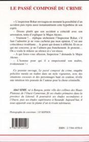 Le Passe Compose Du Crime - 4ème de couverture - Format classique