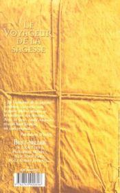 Le Voyageur De La Sagesse - 4ème de couverture - Format classique