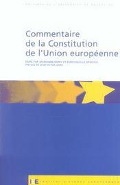 Commentaire de la constitution de l'union europeenne - Intérieur - Format classique