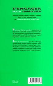 S Engager Pour Innover - 4ème de couverture - Format classique