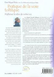 Pratique de la voie tolteque - 4ème de couverture - Format classique