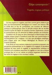 Oedipe contemporain - 4ème de couverture - Format classique