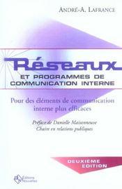 Réseaux et programmes de communication interne (2e édition) - Intérieur - Format classique