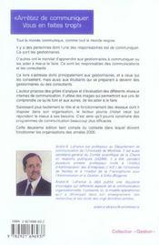 Réseaux et programmes de communication interne (2e édition) - 4ème de couverture - Format classique