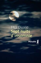 Sept nuits d'insomnie - Couverture - Format classique