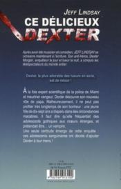 Ce délicieux Dexter - 4ème de couverture - Format classique