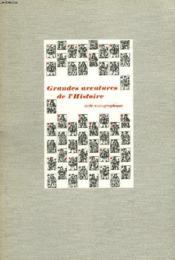 Grandes Aventures De L'Histoire. Suite Iconographique. - Couverture - Format classique