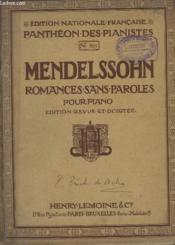Romances Sans Paroles Pour Piano - N°969. - Couverture - Format classique