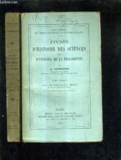 Etudes D'Histoire Des Sciences Et D'Histoire De La Philosophie - Tome 1 + Tome 2. - Couverture - Format classique