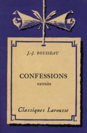 Confessions / Rousseau, Jean Jacques / Réf14930 - Couverture - Format classique