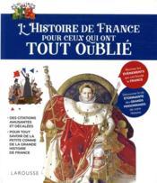 L'Histoire de France pour ceux qui ont tout oublié - Couverture - Format classique
