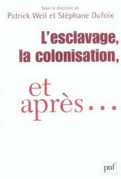 L'esclavage, la colonisation et après... - Intérieur - Format classique