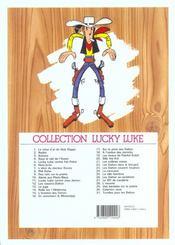 Lucky Luke T.4 ; sous le ciel de l'ouest - 4ème de couverture - Format classique