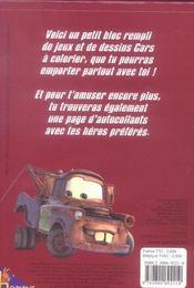 Cars ; Jeux Et Coloriages - 4ème de couverture - Format classique