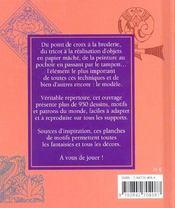Motifs Et Patrons Du Monde ; Plus De 950 Modeles Originaux Et Adaptables A Tous Les Supports - 4ème de couverture - Format classique