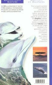 Baleines Et Dauphins - 4ème de couverture - Format classique