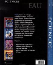 Eau - 4ème de couverture - Format classique