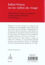 Julien gracq ou les reflets du rivage - 4ème de couverture - Format classique