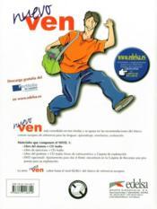 Nuevo ven ; espagnol ; 1ère année ; livre de l'élève / libro del alumno - 4ème de couverture - Format classique